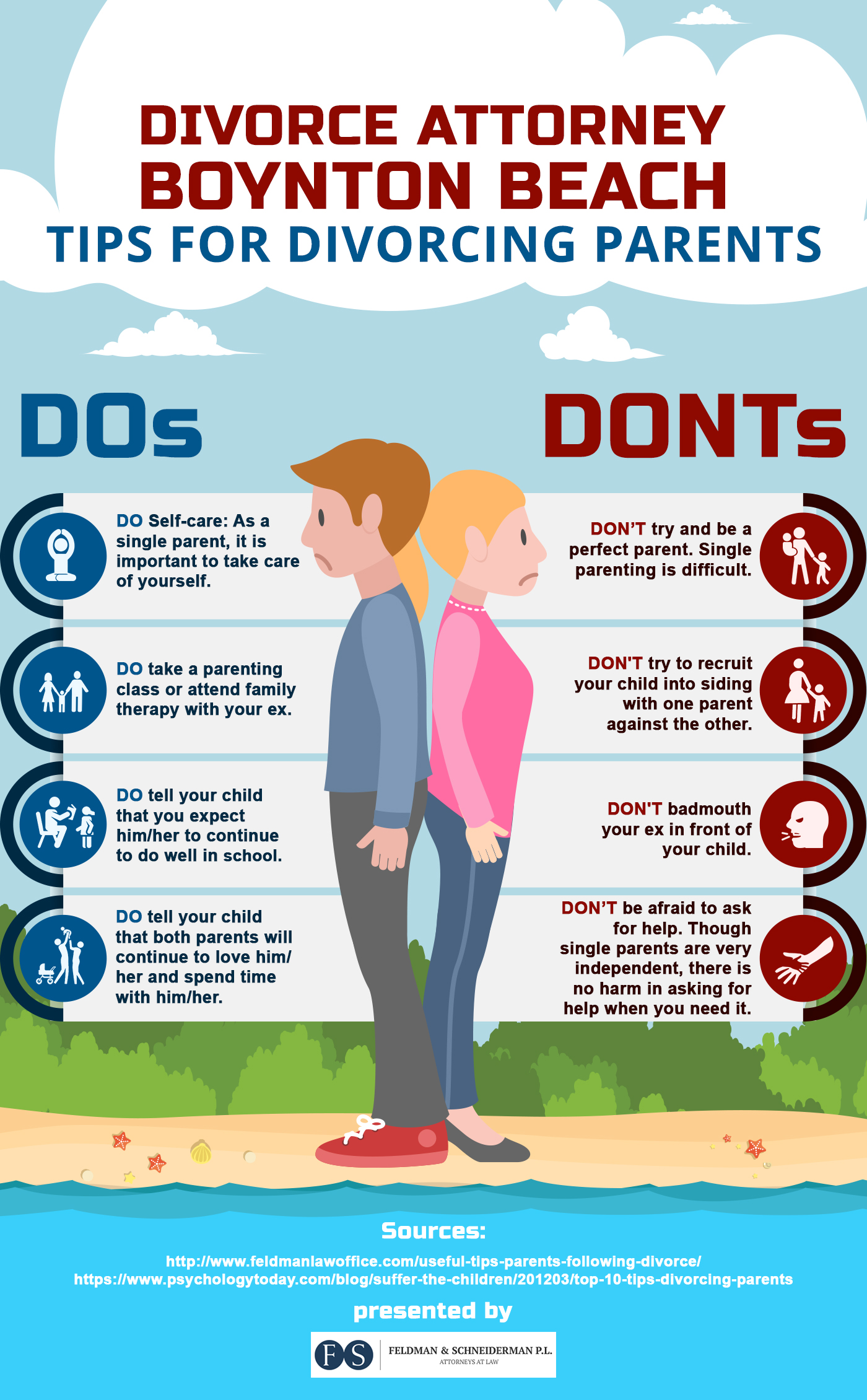 dos and dont of divorcing parents